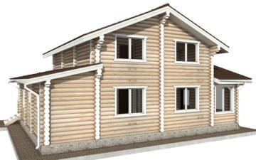 Фото #3: Красивый деревянный дом РС-66 из бревна