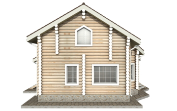 Фото #9: Красивый деревянный дом РС-13 из бревна