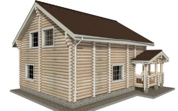 Фото #3: Красивый деревянный дом РС-14 из бревна