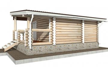 Баня из бревна - проект Бр-20, фото #9