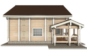 Фото #9: Красивый деревянный дом РС-14 из бревна