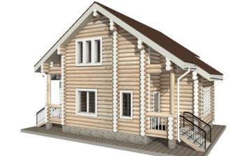 Фото #3: Красивый деревянный дом РС-15 из бревна