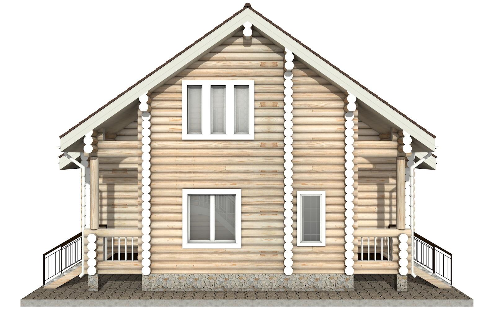Фото #8: Красивый деревянный дом РС-15 из бревна