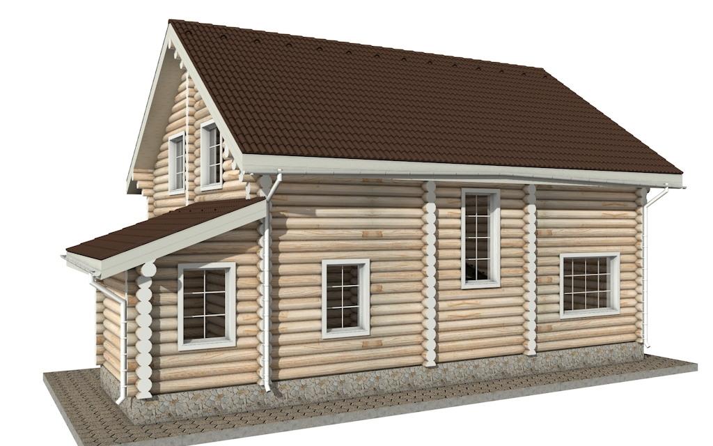 Фото #5: Красивый деревянный дом РС-16 из бревна