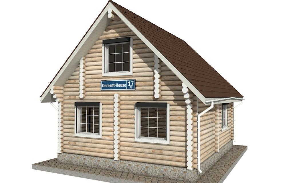 Фото #3: Красивый деревянный дом РС-17 из бревна