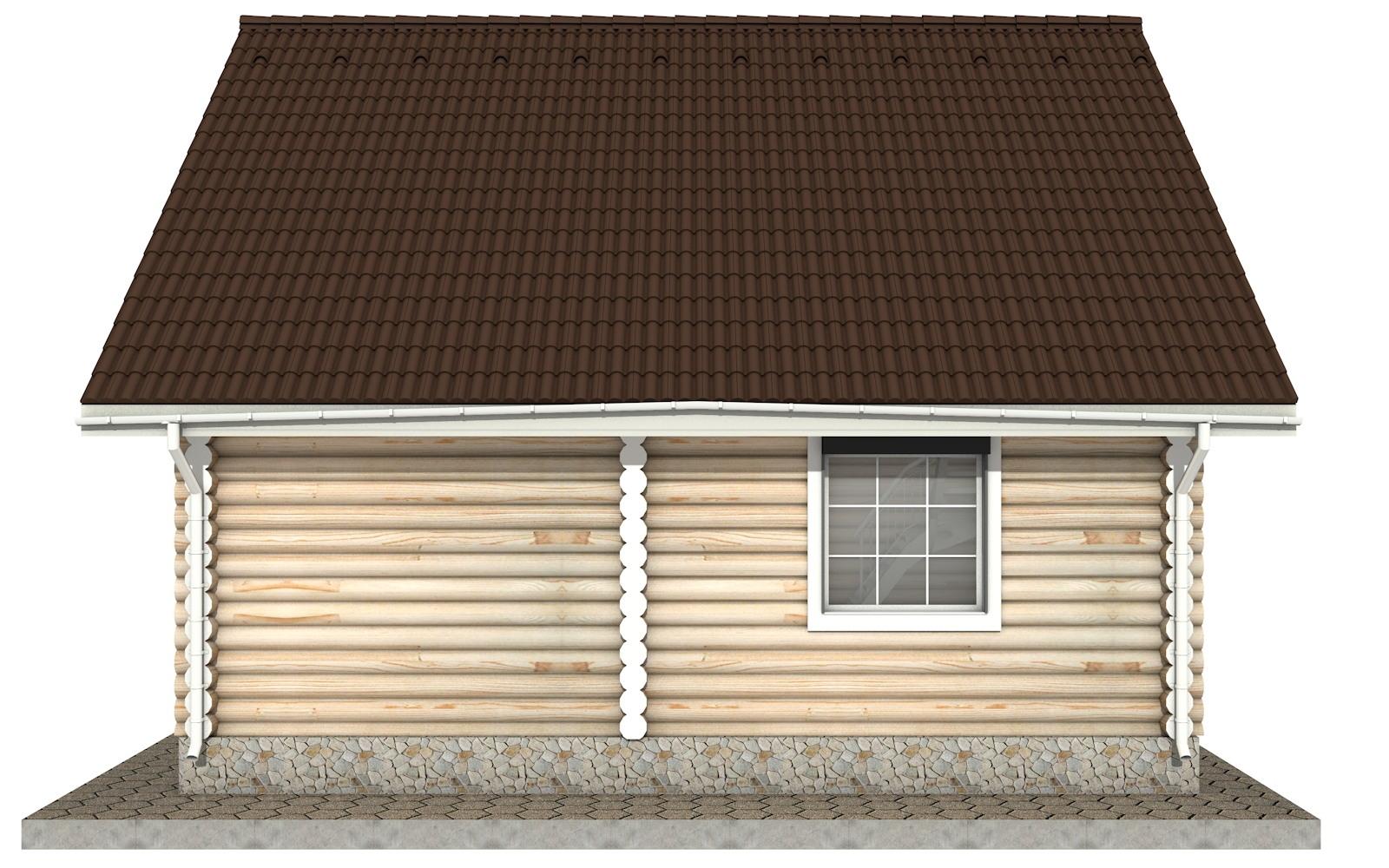 Фото #8: Красивый деревянный дом РС-17 из бревна