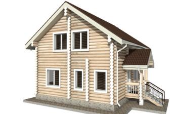 Фото #6: Красивый деревянный дом РС-18 из бревна