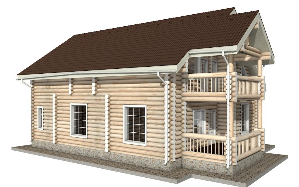 Фото #3: Красивый деревянный дом РС-19 из бревна