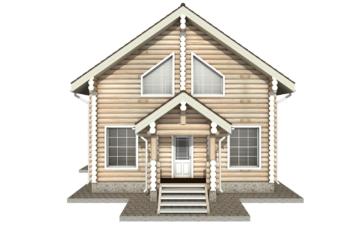 Фото #9: Красивый деревянный дом РС-19 из бревна