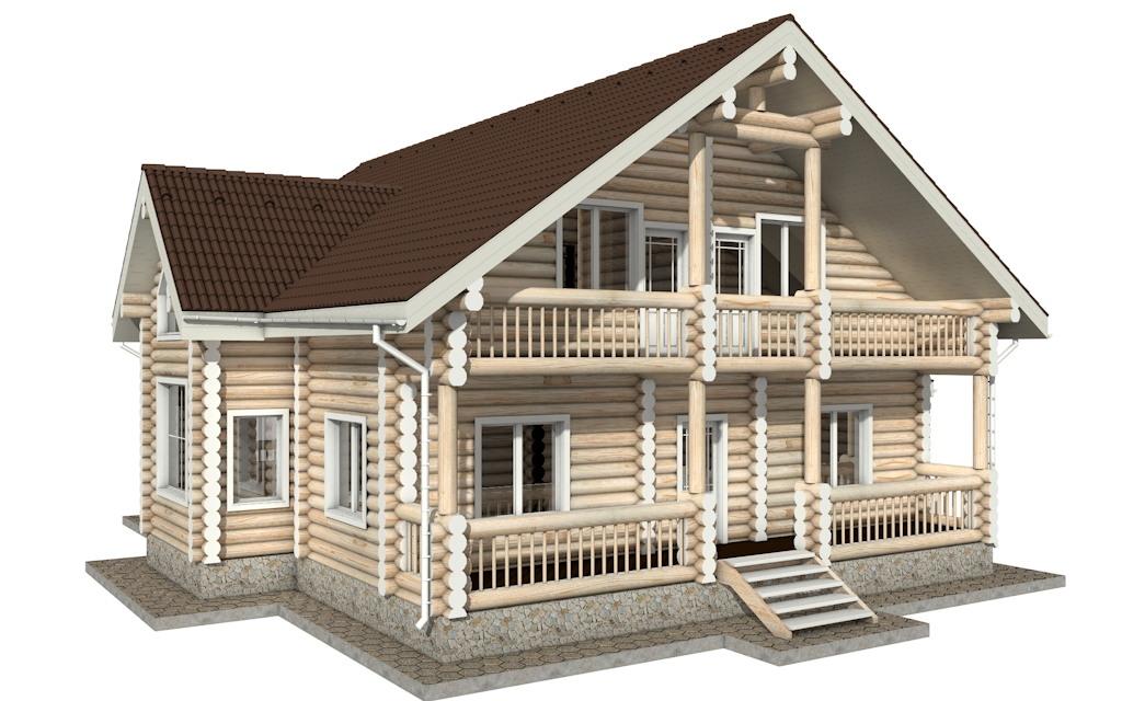 Фото #5: Красивый деревянный дом РС-20 из бревна