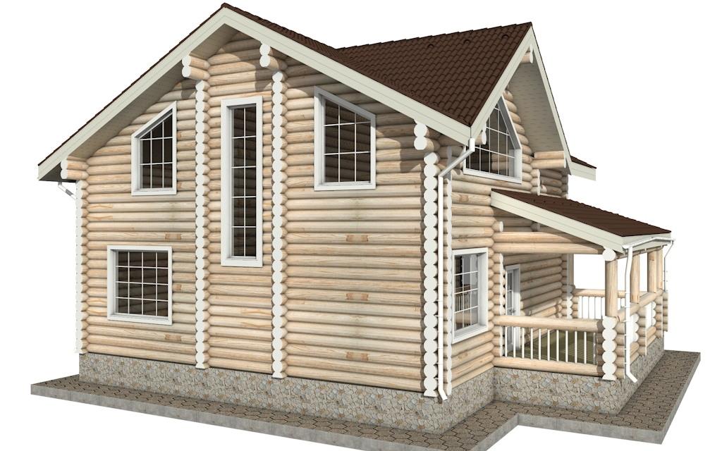 Фото #3: Красивый деревянный дом РС-21 из бревна