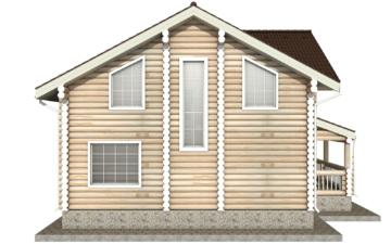 Фото #9: Красивый деревянный дом РС-21 из бревна