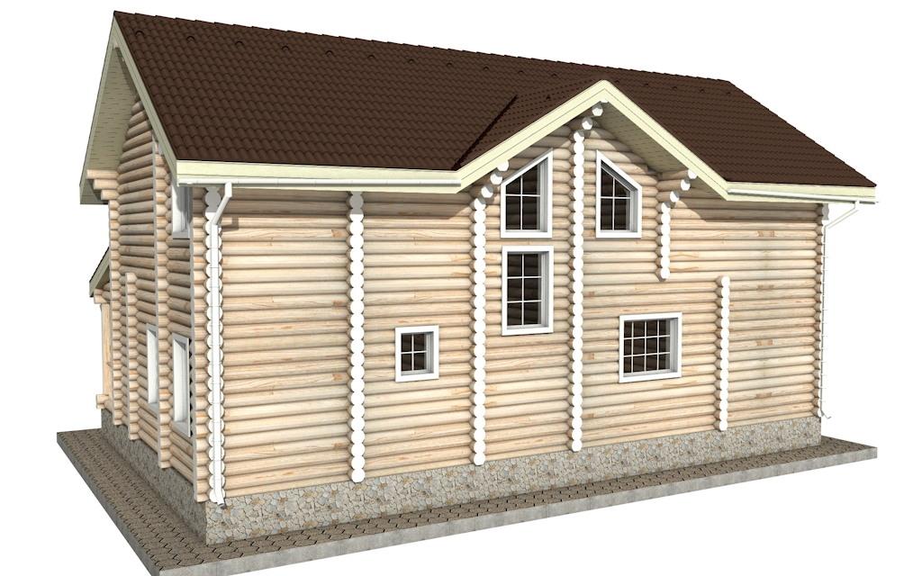 Фото #3: Красивый деревянный дом РС-22 из бревна