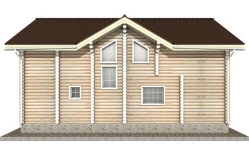 Фото #9: Красивый деревянный дом РС-22 из бревна