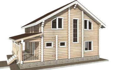 Фото #6: Красивый деревянный дом РС-23 из бревна