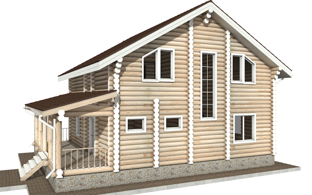 Фото #5: Красивый деревянный дом РС-23 из бревна