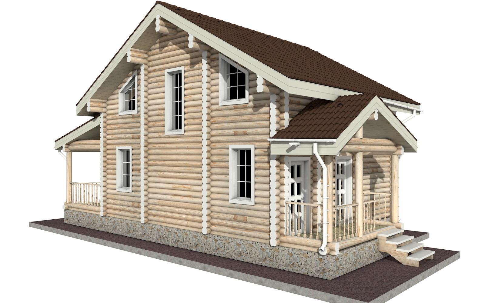 Фото #3: Красивый деревянный дом РС-24 из бревна