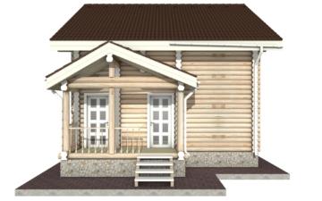 Фото #9: Красивый деревянный дом РС-24 из бревна