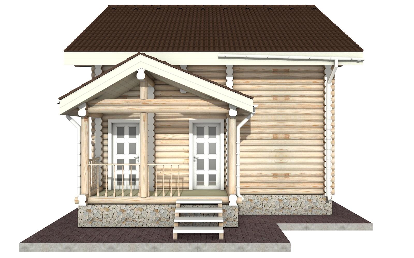 Фото #8: Красивый деревянный дом РС-24 из бревна