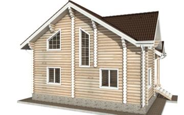 Фото #3: Красивый деревянный дом РС-25 из бревна