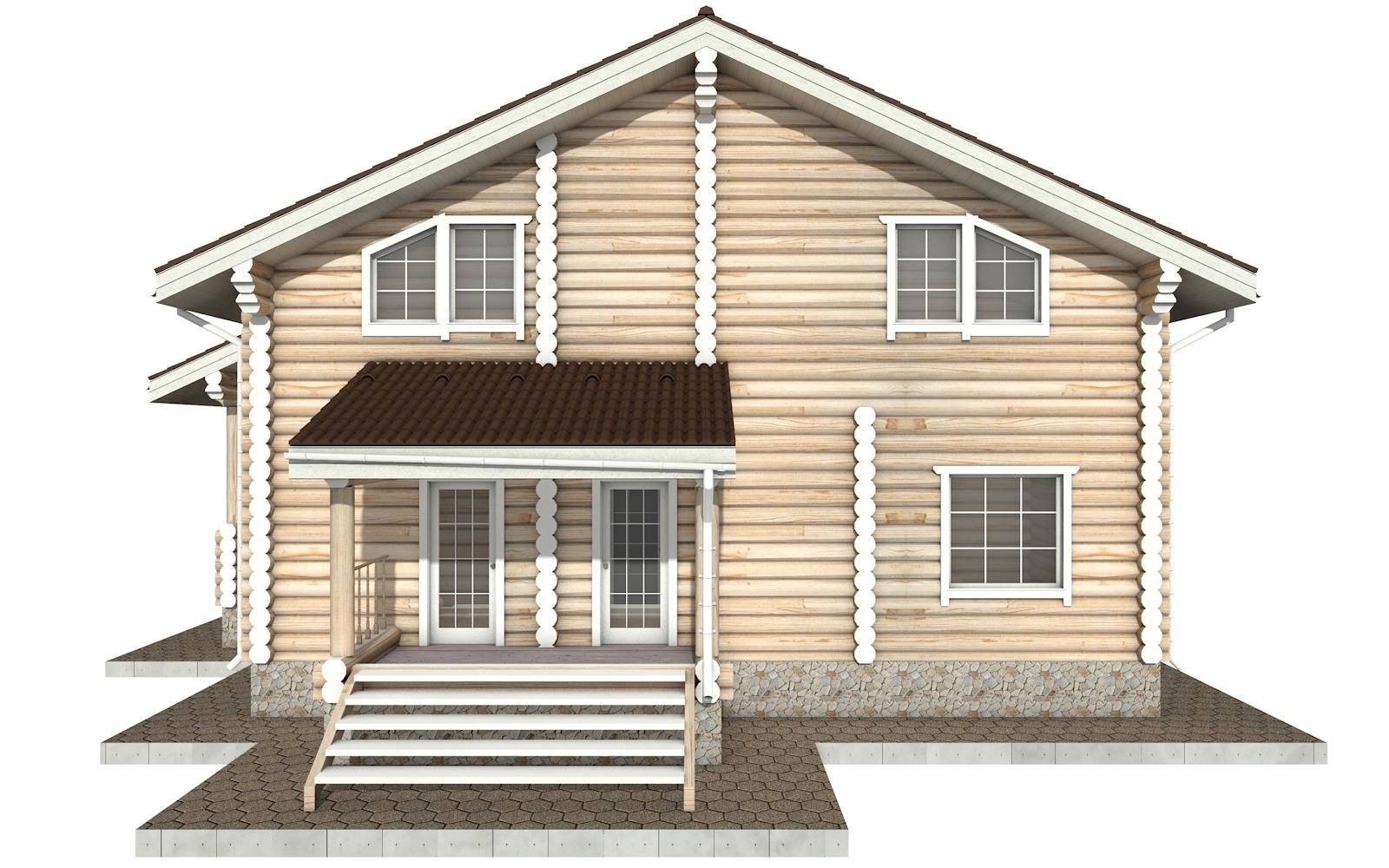 Фото #8: Красивый деревянный дом РС-26 из бревна