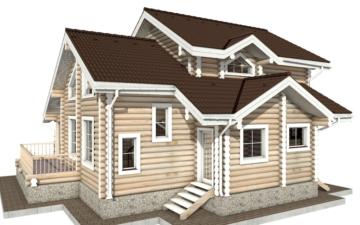 Фото #3: Красивый деревянный дом РС-27 из бревна