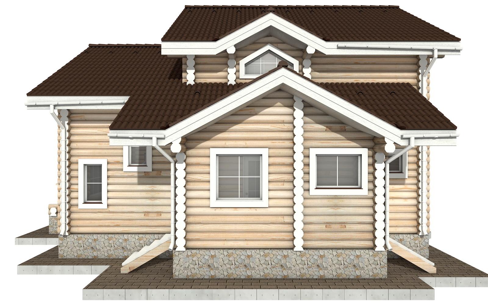 Фото #8: Красивый деревянный дом РС-27 из бревна