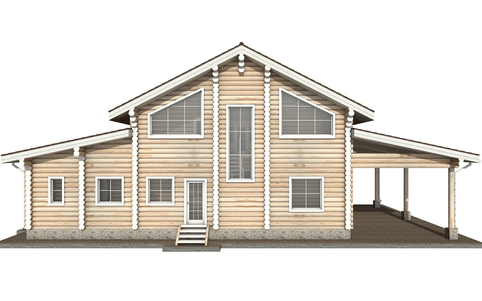Фото #8: Красивый деревянный дом РС-28 из бревна