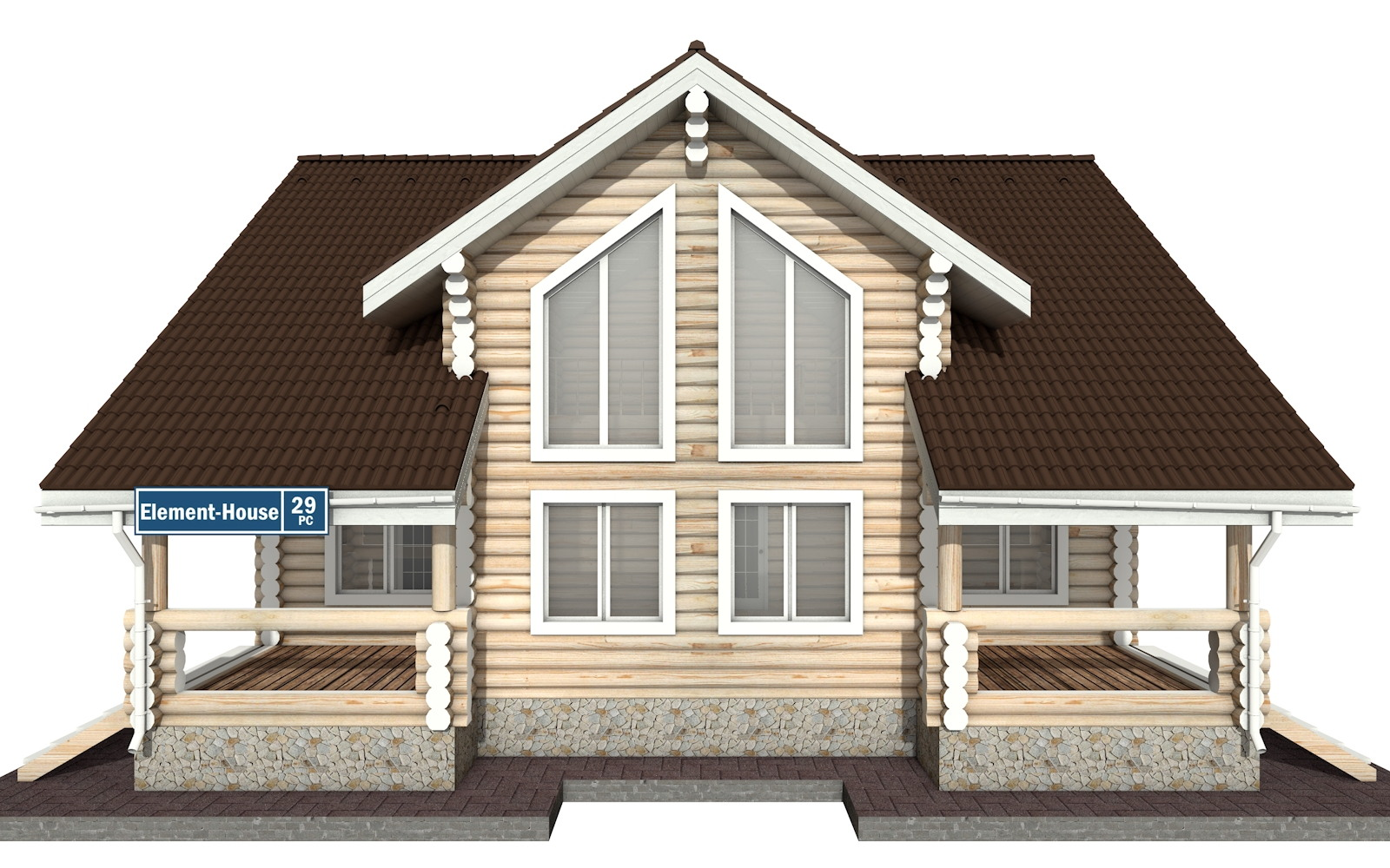 Фото #8: Красивый деревянный дом РС-29 из бревна