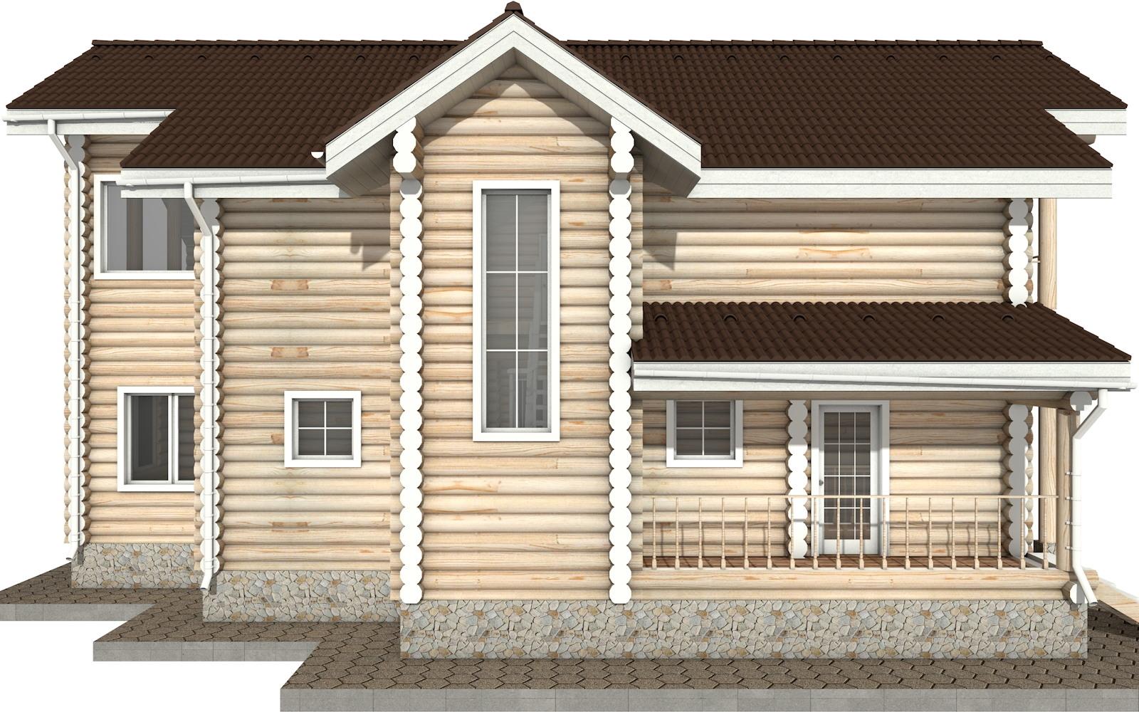 Фото #8: Красивый деревянный дом РС-30 из бревна