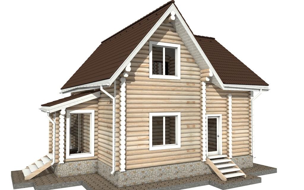 Фото #3: Красивый деревянный дом РС-33 из бревна