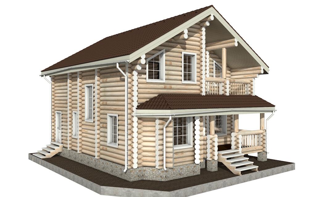 Фото #5: Красивый деревянный дом РС-4 из бревна