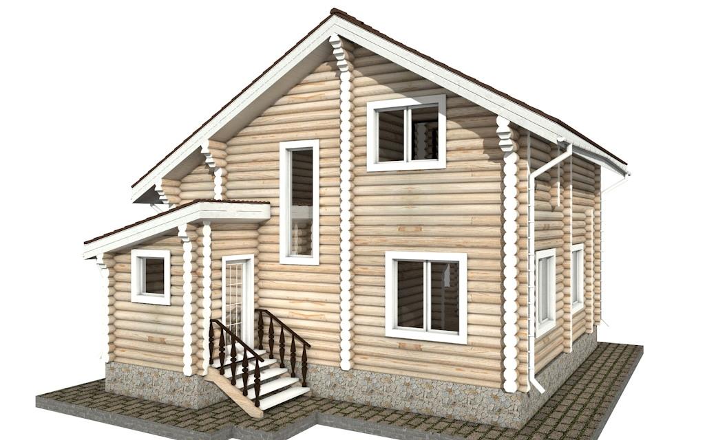 Фото #3: Красивый деревянный дом РС-34 из бревна