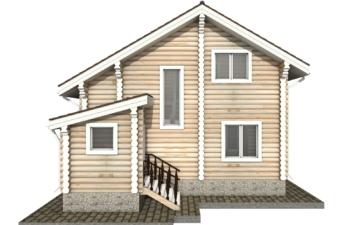 Фото #9: Красивый деревянный дом РС-34 из бревна
