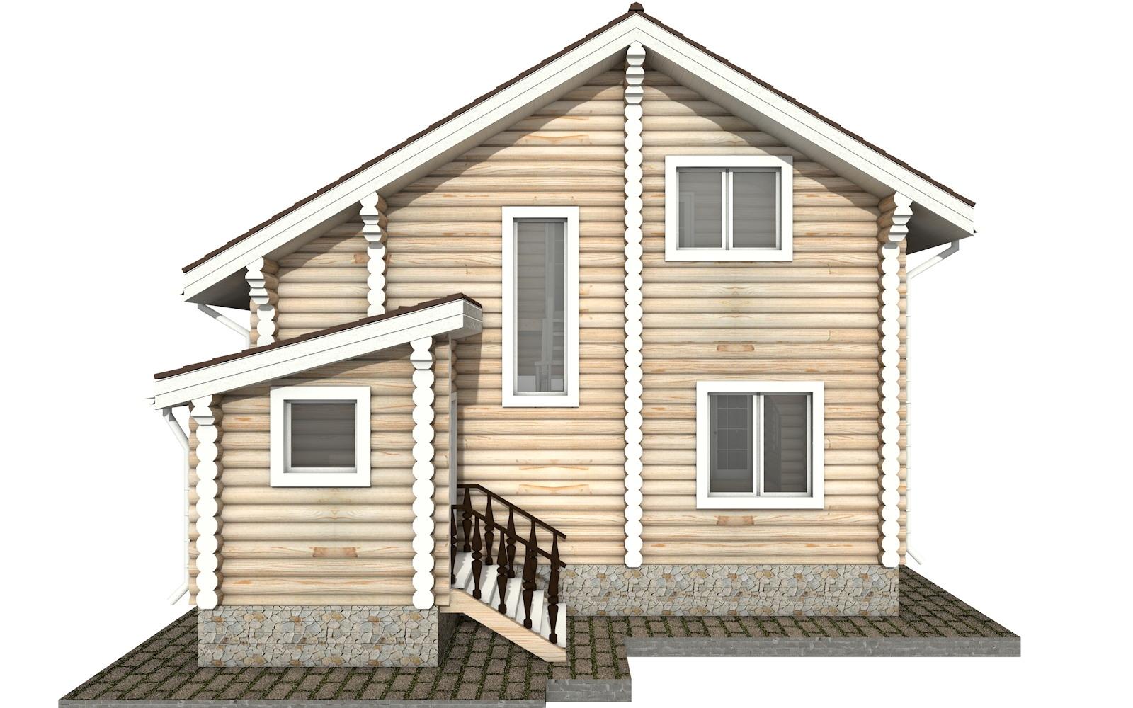 Фото #8: Красивый деревянный дом РС-34 из бревна