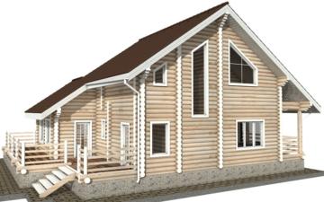 Фото #3: Красивый деревянный дом РС-35 из бревна