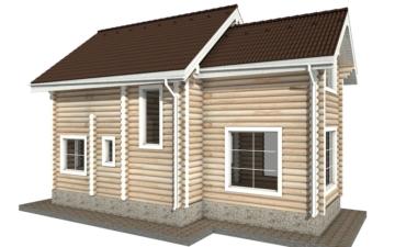 Фото #3: Красивый деревянный дом РС-36 из бревна