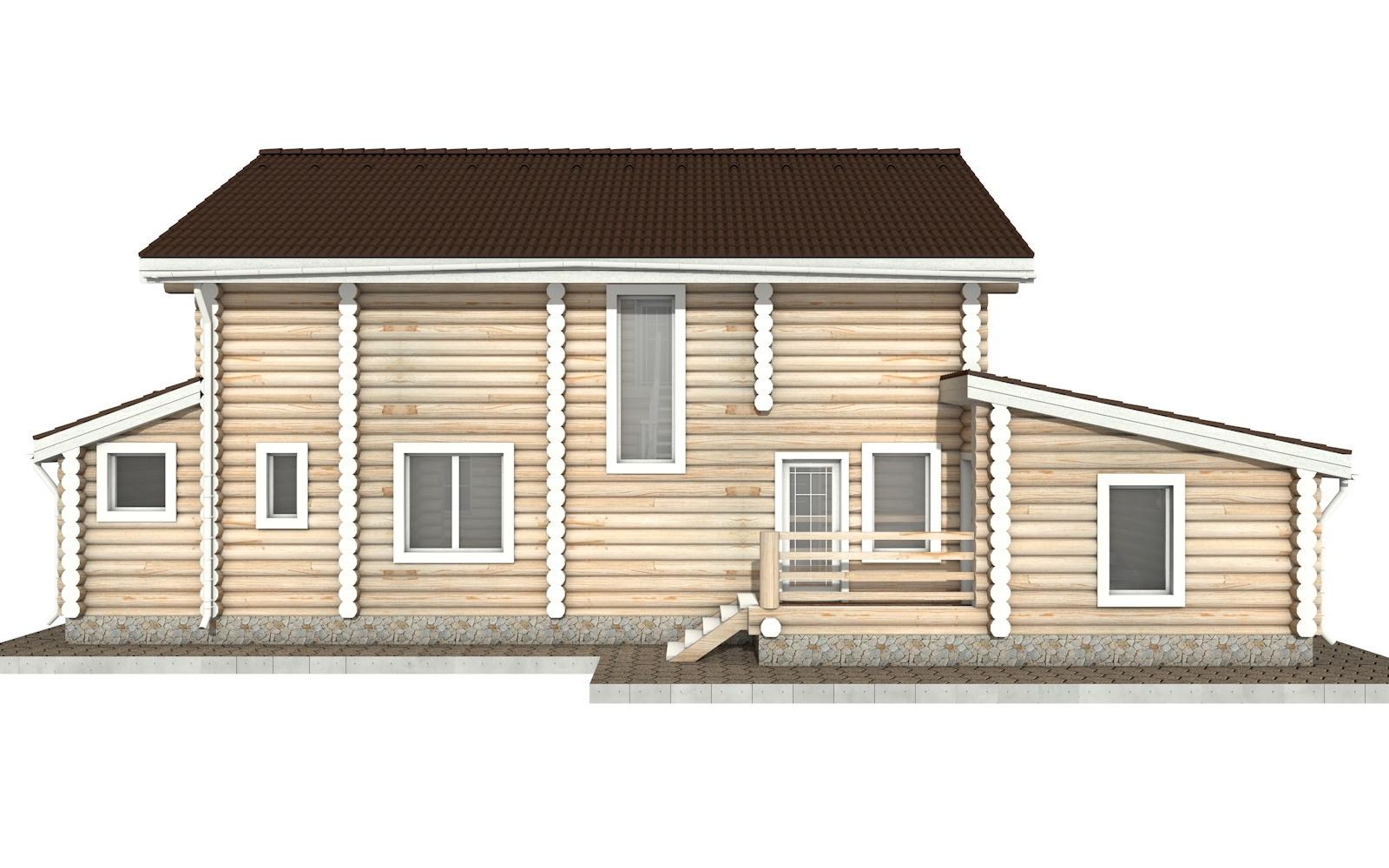 Фото #8: Красивый деревянный дом РС-37 из бревна