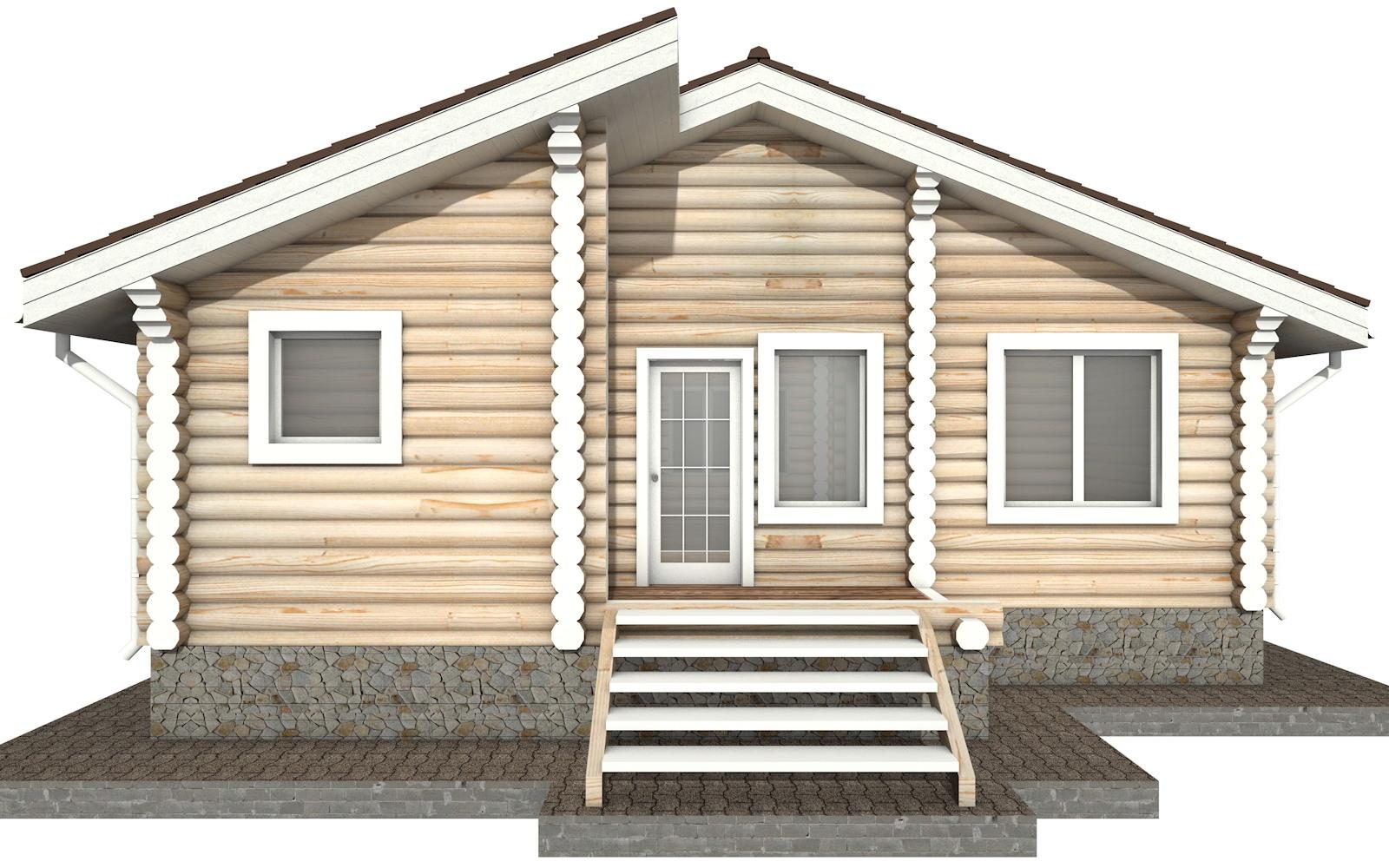 Фото #7: Красивый деревянный дом РС-38 из бревна