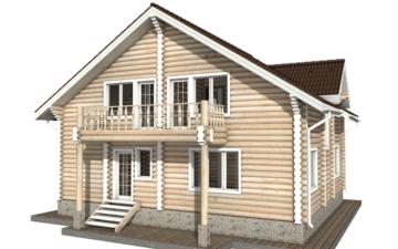 Фото #3: Красивый деревянный дом РС-39 из бревна