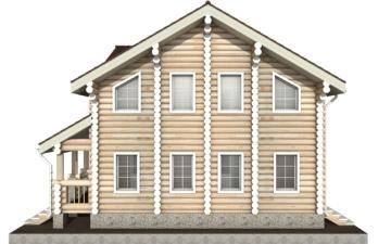 Фото #9: Красивый деревянный дом РС-4 из бревна