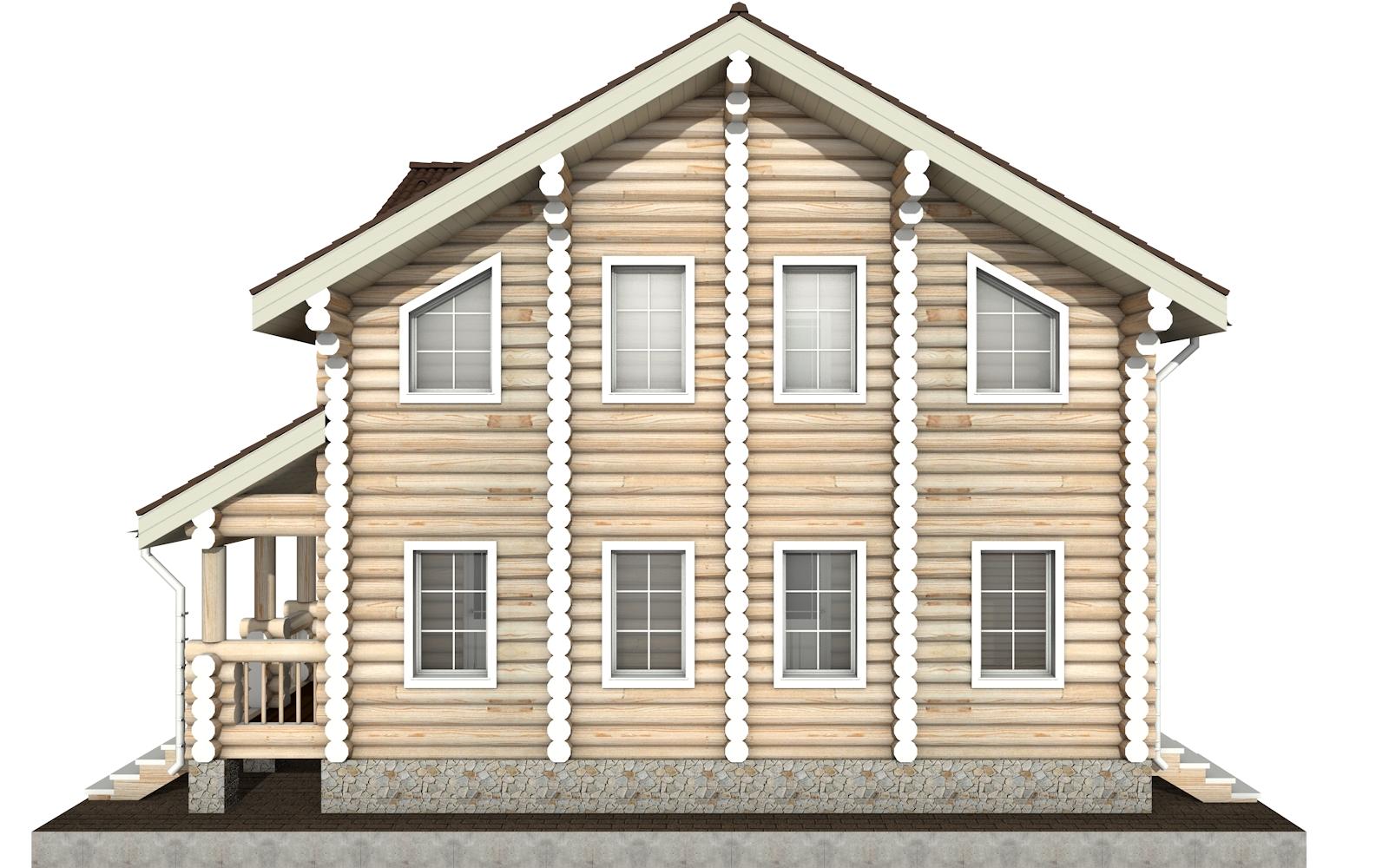 Фото #8: Красивый деревянный дом РС-4 из бревна