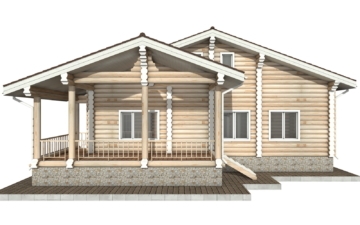 Фото #9: Красивый деревянный дом РС-40 из бревна