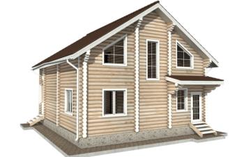 Фото #6: Красивый деревянный дом РС-43 из бревна