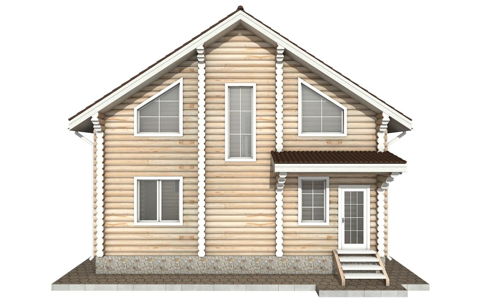 Фото #8: Красивый деревянный дом РС-43 из бревна