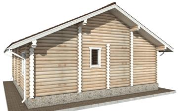 Фото #3: Красивый деревянный дом РС-44 из бревна