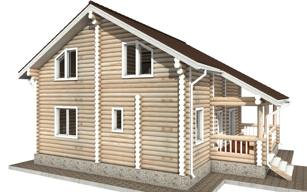 Фото #3: Красивый деревянный дом РС-45 из бревна