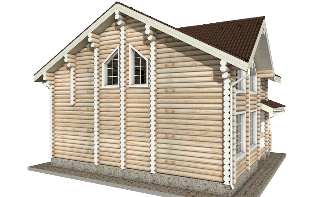 Фото #5: Красивый деревянный дом РС-5 из бревна