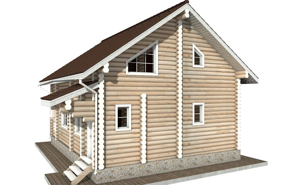 Фото #3: Красивый деревянный дом РС-47 из бревна