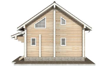 Фото #9: Красивый деревянный дом РС-47 из бревна